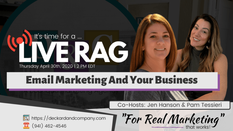 Email Marketing and your Business a Livestreaming event by Deckard & Company