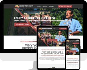 Drone company in Bradenton WordPress web design