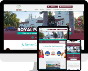 Local car wash WordPress website design and development
