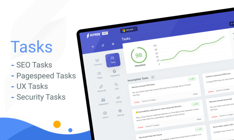 SEO Task Management by Screpy