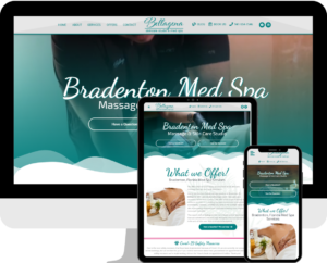 Bradenton, Florida Day and Med Spa WordPress website design company, Deckard & Company and Brian Deckard