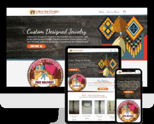 Website design for shopping, e-commerce, using WordPress