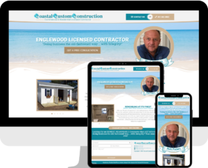 Local custom WordPress website design and development for residential and commercial contractors