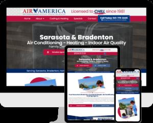HVAC company website design services using WordPress based in Bradenton, FL