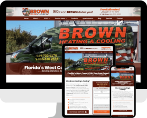 AC and Heating company WordPress website design and development based in Bradenton, Florida
